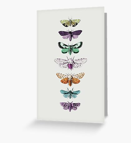 Techno Moth Collection Greeting Card