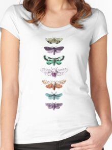 Techno Moth Collection Women's Fitted Scoop T-Shirt