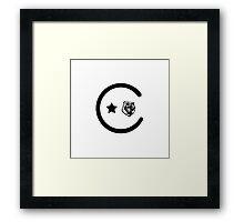 California Icons Framed Print