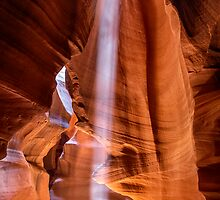 Antelope Canyon Light Beam by Graham Gilmore