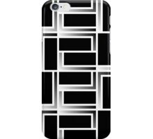 Rectangles 1 - black and white iPhone Case/Skin