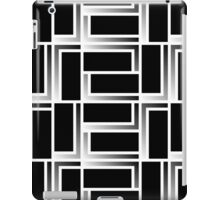 Rectangles 1 - black and white iPad Case/Skin