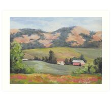 Hillside Farm Art Print