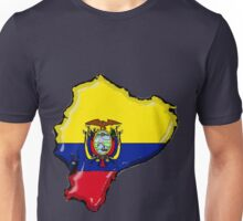 Ecuador Map With Ecuadorean Flag Unisex T-Shirt