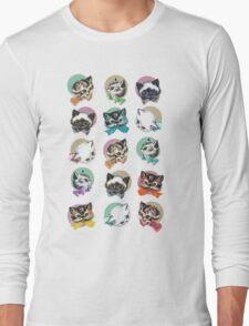Cats & Bowties Long Sleeve T-Shirt