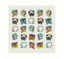 Cats & Bowties Art Print