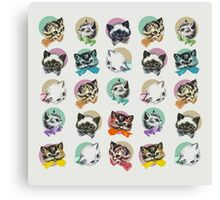 Cats & Bowties Canvas Print