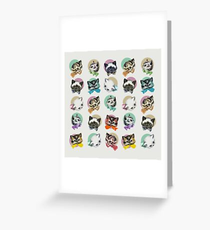 Cats & Bowties Greeting Card