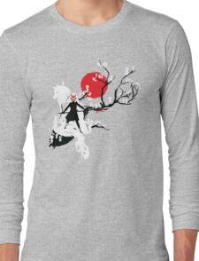 Japanese Wolf Long Sleeve T-Shirt