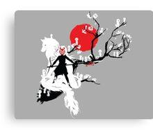 Japanese Wolf Canvas Print