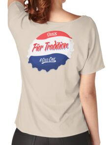 Pier Tradition Red, White and Blue Bottle Cap Women's Relaxed Fit T-Shirt