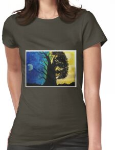 A Contrast in Light and Color Womens Fitted T-Shirt