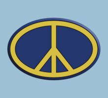 Oval hippie peace sign Kids Tee