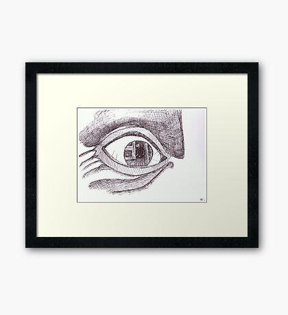 The Eye of the Beholder Framed Print