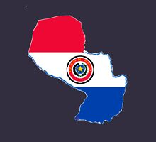 Paraguay Map With Paraguay Flag Unisex T-Shirt