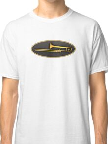 Gold trombone sign Classic T-Shirt