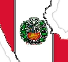 Peru Map With Peruvian Flag Sticker