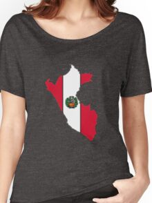 Peru Map With Peruvian Flag Women's Relaxed Fit T-Shirt