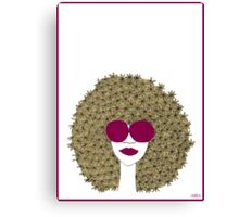Afro girl Canvas Print