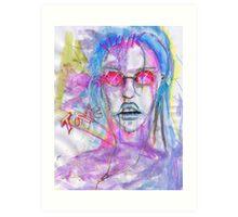 Toxic Punk Girl Art Print