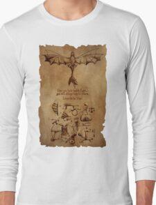 DaVinci's Dragon (Hiccup's Sketchbook) Long Sleeve T-Shirt
