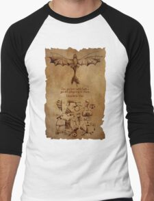 DaVinci's Dragon (Hiccup's Sketchbook) Men's Baseball ¾ T-Shirt