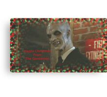 Buffy The Gentlemen Christmas Canvas Print