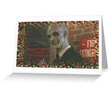 Buffy The Gentlemen Christmas Greeting Card