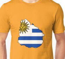 Uruguay Map With Uruguay Flag Unisex T-Shirt