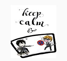 Keep Calm & - Shizaya (Durarara!!) Women's Fitted Scoop T-Shirt
