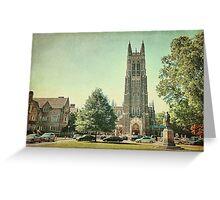 Duke Chapel in Durham, NC Greeting Card