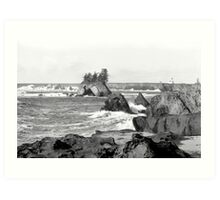 Lighthouse Beach - Oregon Art Print