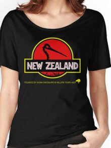 New Zealand: Kiwi Skull Women's Relaxed Fit T-Shirt
