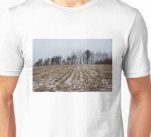 Snowy Winter Cornfields Unisex T-Shirt