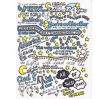 All of the Stars Lyrics Photographic Print