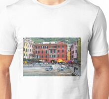 All About Italy. Piece 10 - Vernazza Houses Unisex T-Shirt