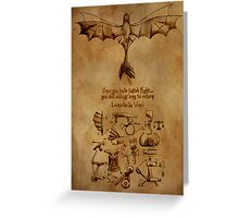 DaVinci's Dragon (Hiccup's Sketchbook) Greeting Card