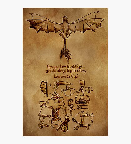 DaVinci's Dragon (Hiccup's Sketchbook) Photographic Print