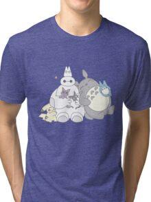 Ghibli Baymax  Tri-blend T-Shirt