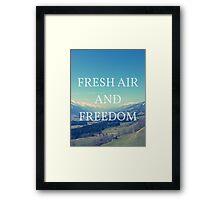 Fresh Air And Freedom Framed Print