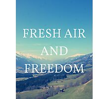 Fresh Air And Freedom Photographic Print