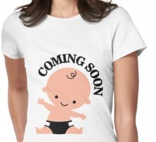 Baby coming soon Womens Fitted T-Shirt