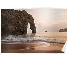 Sunset at Durdle Door Poster