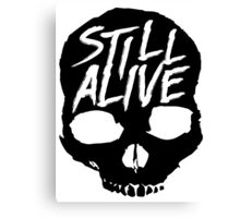 Still Alive (Black) Canvas Print