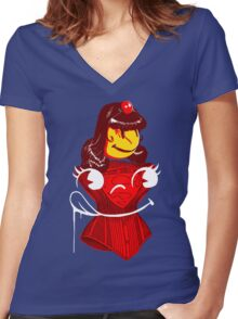 Ms. Corset Women's Fitted V-Neck T-Shirt