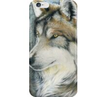 The Grey (but Colorful) Wolf iPhone Case/Skin