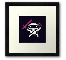 Ninja Pixel Framed Print
