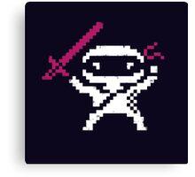 Ninja Pixel Canvas Print