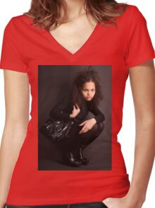 Bag & Boots Women's Fitted V-Neck T-Shirt
