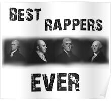 Best Rappers Ever - Hamilton (Black text) Poster